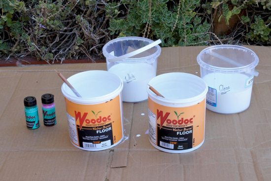 Woodoc Paint - Crate Shelves
