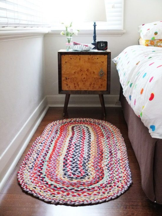 Dorm Room Ideas - Braided T-shirt Rug
