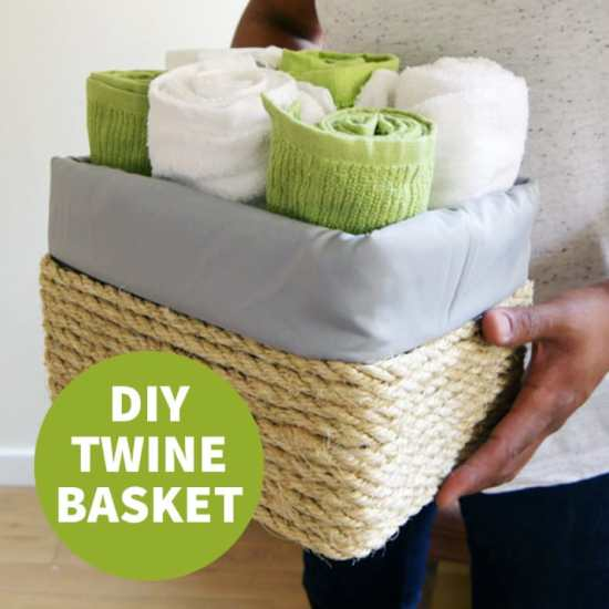 Dorm Room Ideas - DIY Twine Basket
