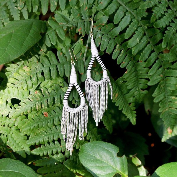 Flip Flop Earrings - White
