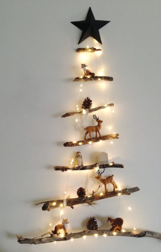 Alternative Christmas Tree - Hanging Branch Tree