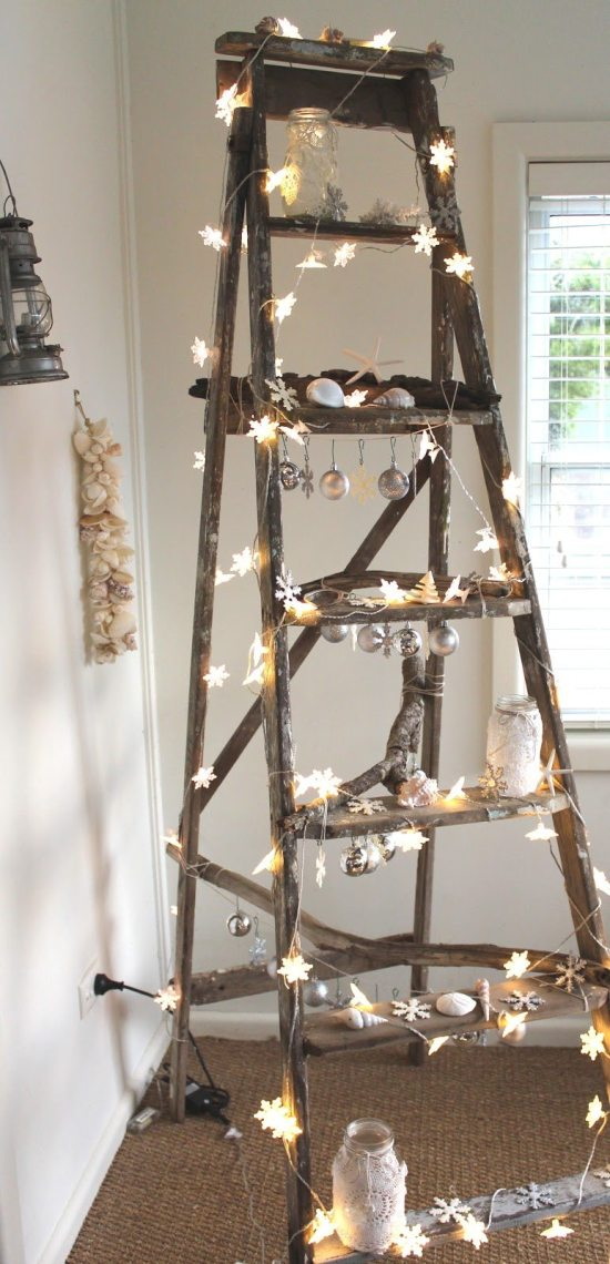 Alternative Christmas Tree - ladder Christmas tree