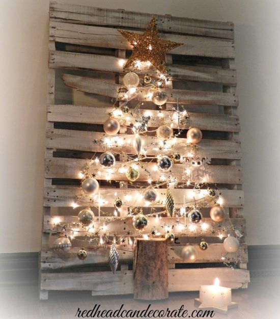 Alternative Christmas Tree - pallet Christmas tree