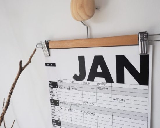 DIY Calendar - Pants Hanger Calendar