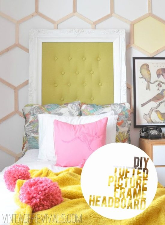 Repurpose Old Picture Frames - Picture Frame Headboard