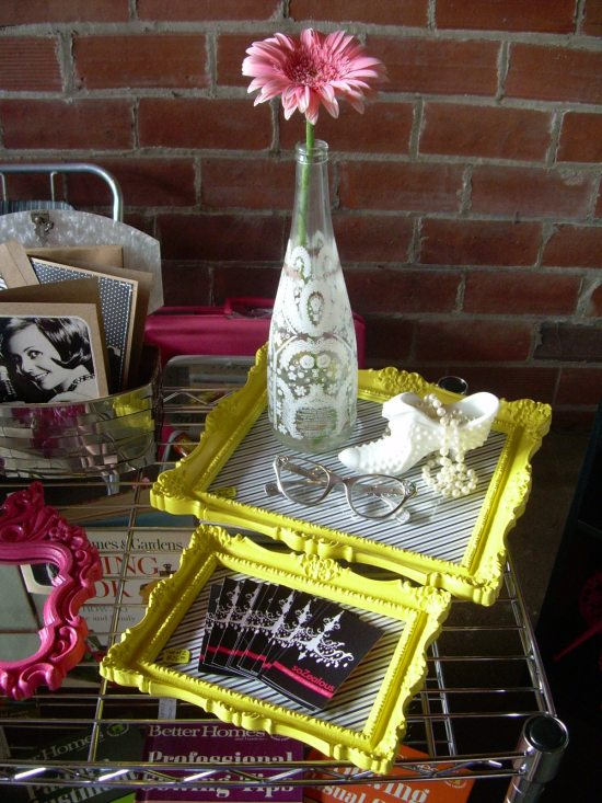 Repurpose Old Picture Frames - Frame Trays
