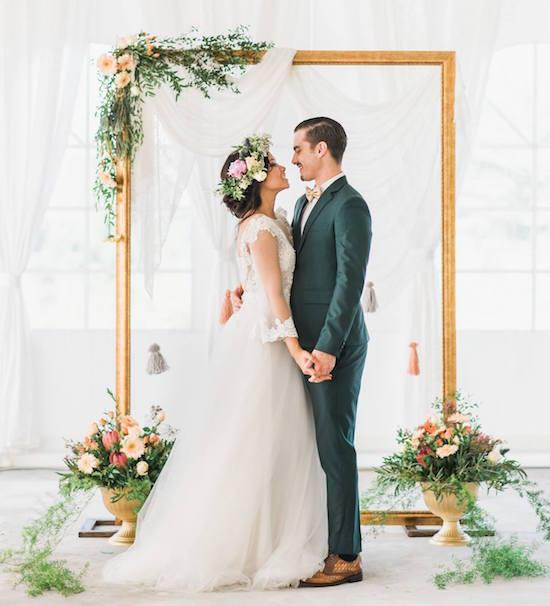 Wedding Altar Frame: Repurpose Old Picture Frames