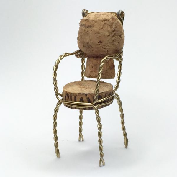 Chairs made from upcycled champagne corks with DWR  UPCYCLIST
