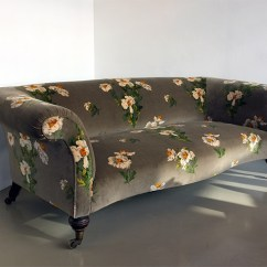 Reupholster Sofa South London Sleeper Bed Sheets 17 Furniture Upholstery Specialists In Upcyclist Floral Print Grey Upholstered By Urban
