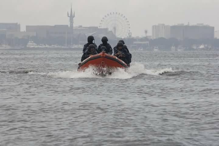 LOOK: Coast Guard securing Manila Bay for ASEAN Summit