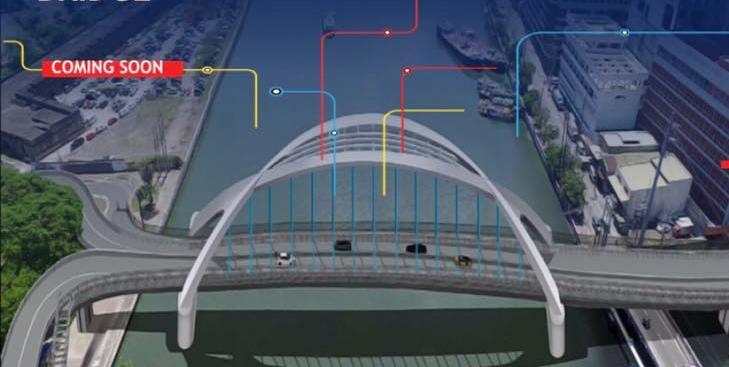 LOOK The soon BinondoIntramuros Bridge  Update Philippines