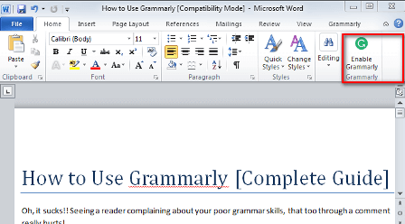 grammarly for microsoft-office