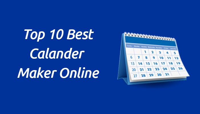 online calendar maker