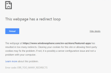 This Webpage has a Redirect Loop (Err_Too_Many_Redirects)