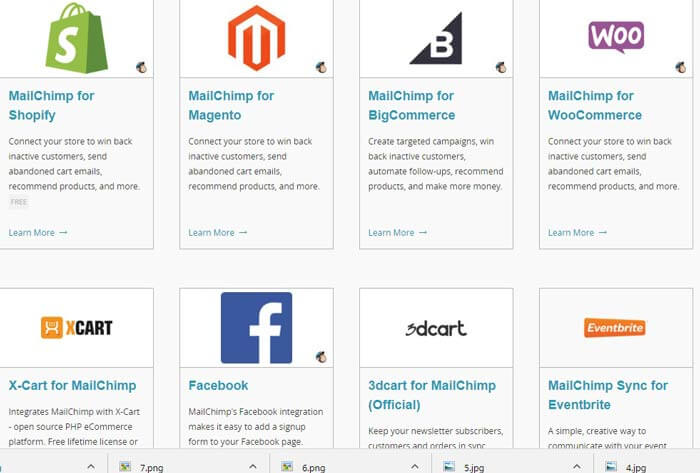 platform supports mailchimp