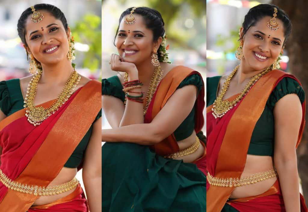 Actress Anasuya Bharadwaj Sankranti special Clicks - Update News 360   English News Online   Live News   Breaking News Online   Latest Update News