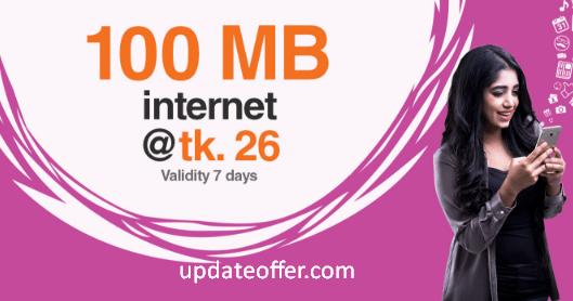 Banglalink 100MB 26Tk Rcharge Offer