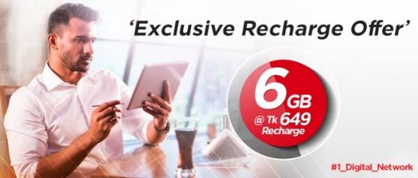 Robi 6GB Internet 649Tk Offer