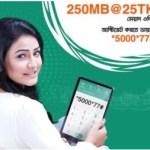 Banglalink 250MB Internet 25Tk Offer