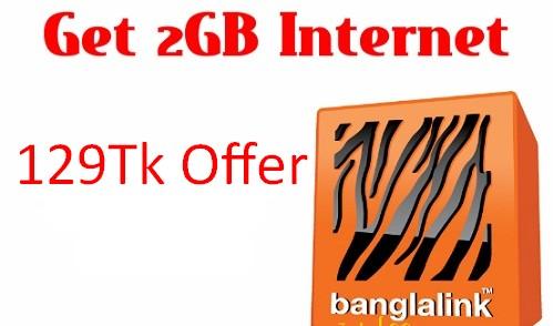 Banglalink 2GB Internet 129Tk Offer