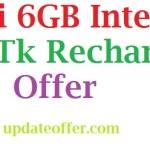 Robi 6GB Internet 94Tk Recharge Offer