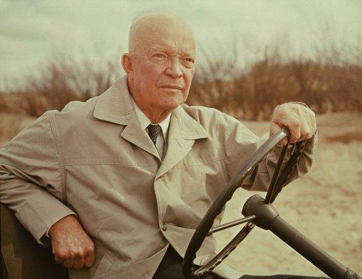 Eisenhower Returns To Omaha Beach