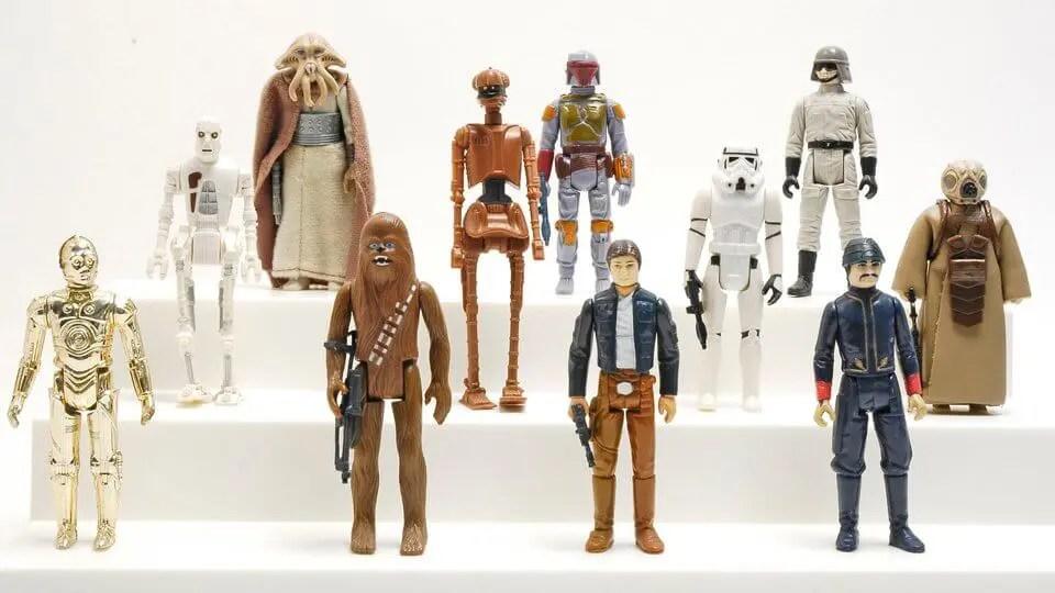a evolucao dos action figures star wars