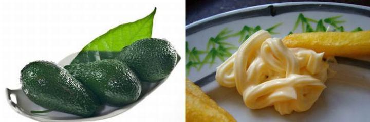Avocado Over Mayonnaise