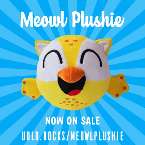 meowl plushie now on sale