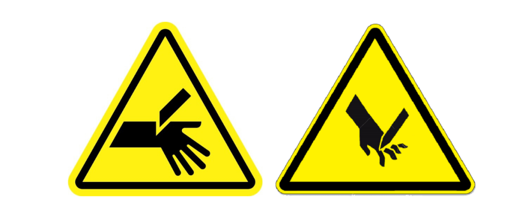 caution signs for finger cuts