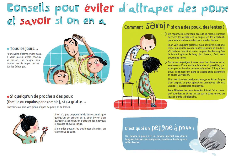 6936a984e4 Vérifiez bien les cheveux de vos enfants et prévenez l'enseignant(e) si  vous en trouvez. Voici quelques conseils de l'INPES :