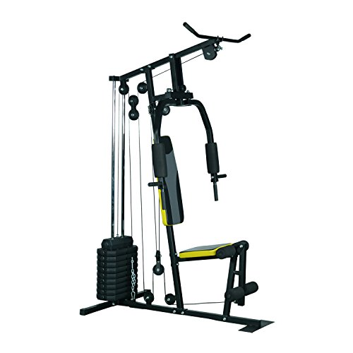 Soozier Indoor Adjustable Durable 100 lb Stack Home Gym