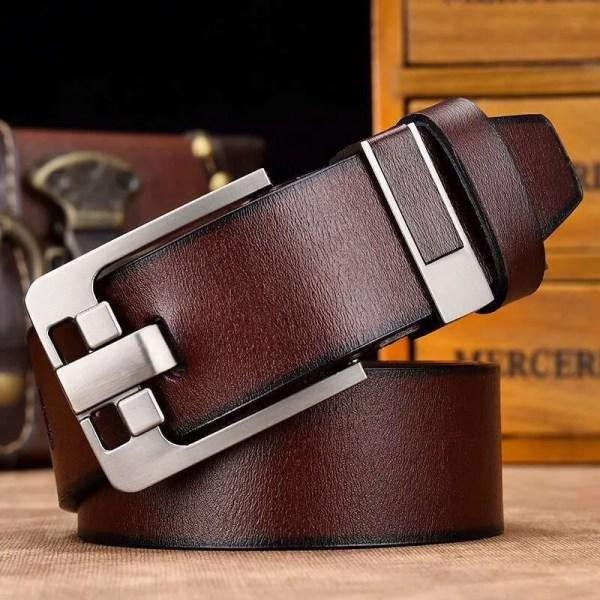 Men's Genuine Cowhide Leather Belt 5