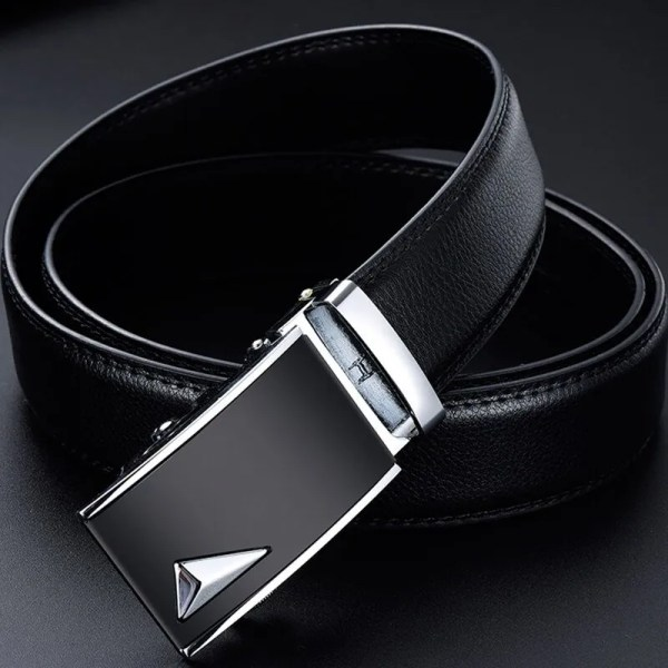 Men Luxury Leather Belt with Automatic Buckle 3