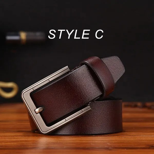 Men's Genuine Cowhide Leather Belt 14