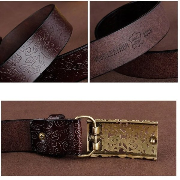 Hand Woven Real Leather Women Casual Belt 4