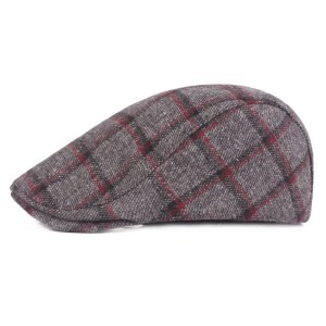 Spring Autumn Hats For Men in Casual Plaid Cotton