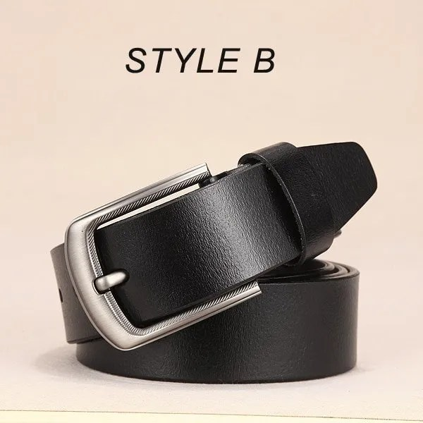 Men Genuine Leather Jeans Belt 13