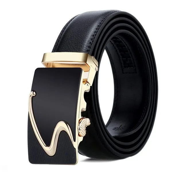 Men Luxury Leather Belt with Automatic Buckle 16