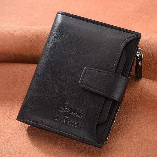 Vintage Men PU Cowhide Leather Multi-Functional Wallet 7