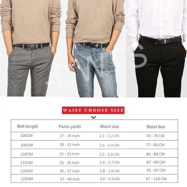 Men Top Quality Genuine Leather Belt 6