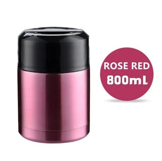 Large Capacity 600ML/800ML/1000ML Thermos Lunch Boxes Portable Stainless Steel 7