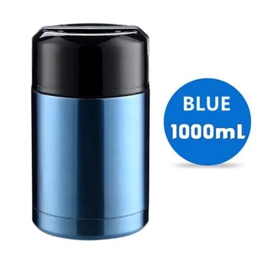 Large Capacity 600ML/800ML/1000ML Thermos Lunch Boxes Portable Stainless Steel 17