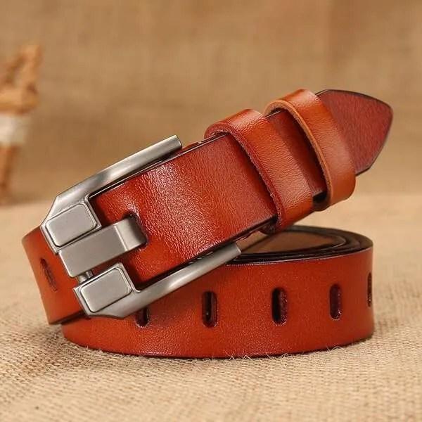 Women Designer Fashion Leather Belt 9