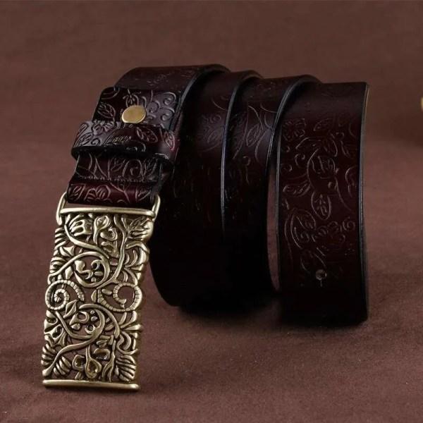 Women Fashion Luxury Genuine Top Quality Leather Belt 3