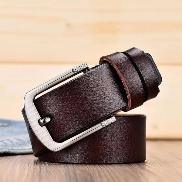Men's Genuine Cowhide Leather Belt 11