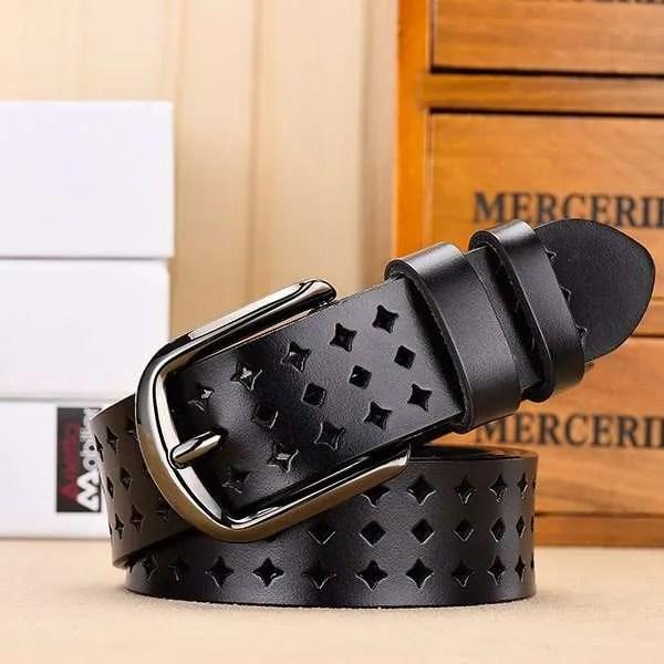 Women Genuine Leather Quality Alloy Fashion Belt for Women 6