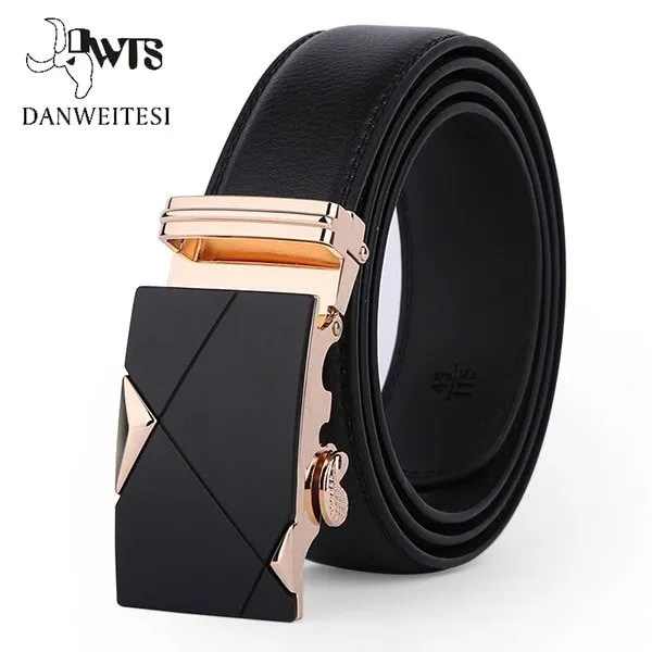Men Luxury Leather Belt with Automatic Buckle 9