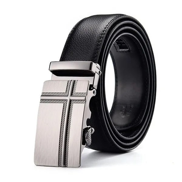 Men Luxury Leather Belt with Automatic Buckle 11