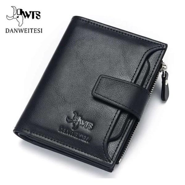 Vintage Men PU Cowhide Leather Multi-Functional Wallet 8